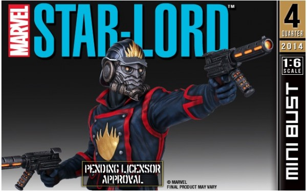 marvel star lord bust gentle giant