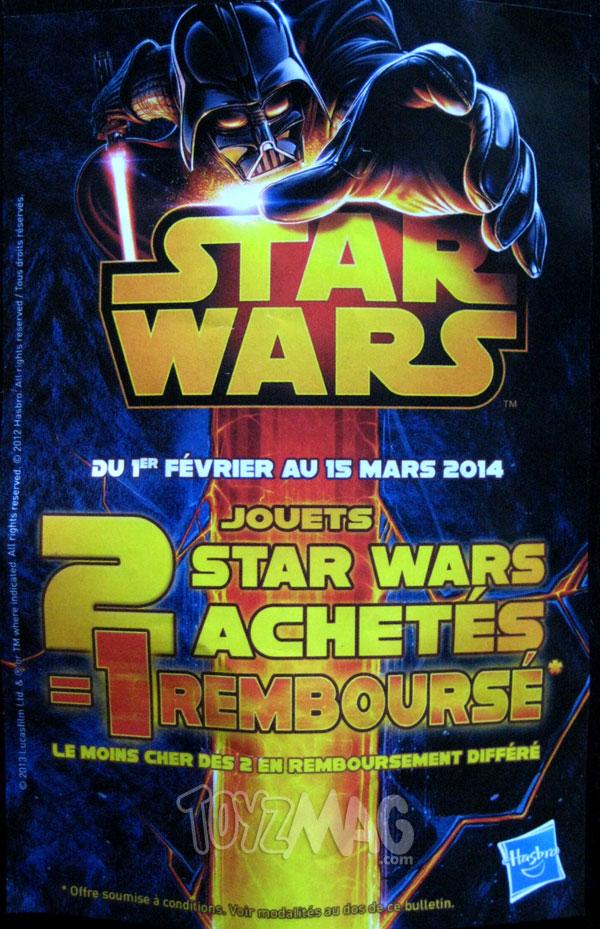 Star Wars 2 jouets achetés 1 jouet remboursé