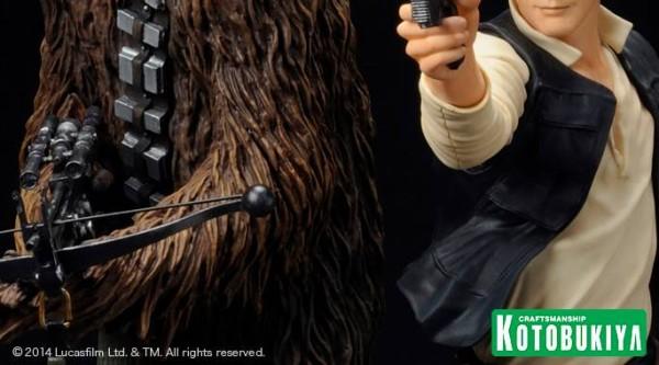 Han Solo & Chewbacca ArtFX+ Kotobukiya