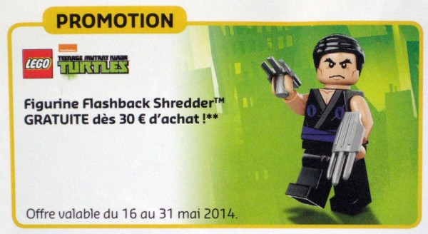 Tortues ninja TMNT Shredder Flashback LEGO 5002127