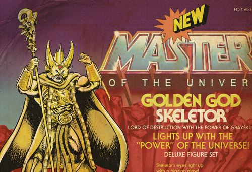 Skeletor Golden God barbarossa art motu Neovintage