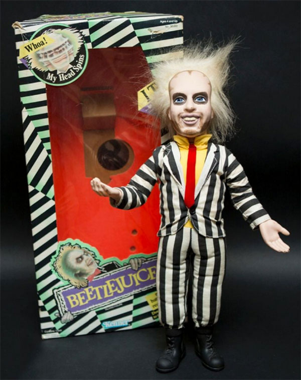 Beetlejuice Kenner- Beetlejuice Talking Doll - Pull Ring Occasion en boite 1989 USA Fonctionne