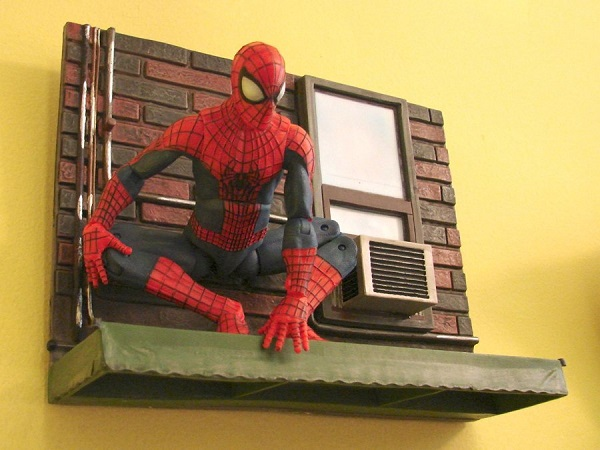 asm2 base socle mural spidey marvel select