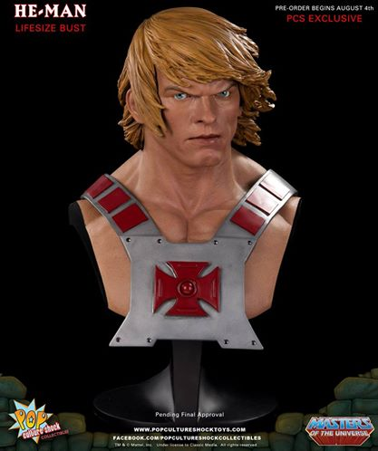 HE-MAN LIFESIZE BUST - PCS EXCLUSIVE !