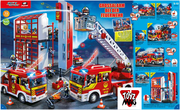 catalogue allemand playmobil pompiers