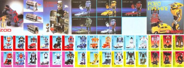 Mini catalogue promotionnel Bandai