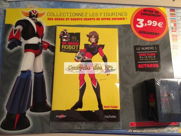 go nagai robot collection Goldorak chez le marchan de journeaux