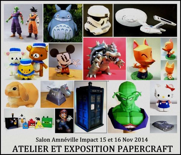 le club PAPERCRAFT UNIVERSE:exposition  et initiation de réalisations papercraft  Makershop: ateliers et initiation à l'impréssion 3D