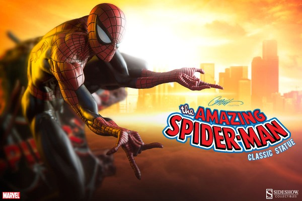 Sideshow Spiderman Classic Polystone 001
