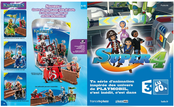 catalogue playmobil 2015 chevaliers et série tv