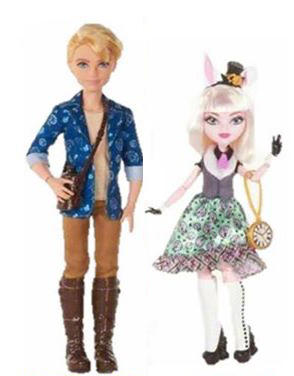 ever after high alister woderland bunny blanc