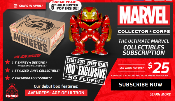 marvel collector corps funko
