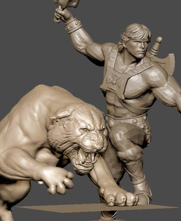 Pop Culture Shock Toys HE MAN musclor et Battle Cat