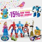 Bon Plan 15% de réduction sur tous les jouets à la Grande Récré