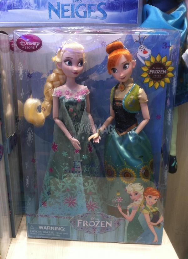 ack Elsa et Anna La Reine des Neiges – « Une Fête Givrée » poupées disney store