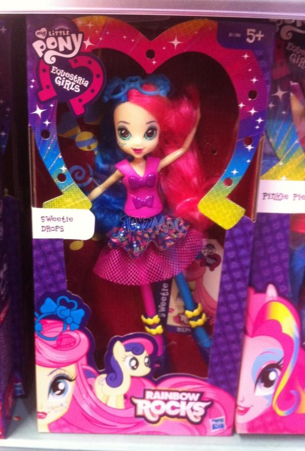 Poupée My little pony Rainbow Rock : DJ Pon-3, Roseluck et Sweetie Drops