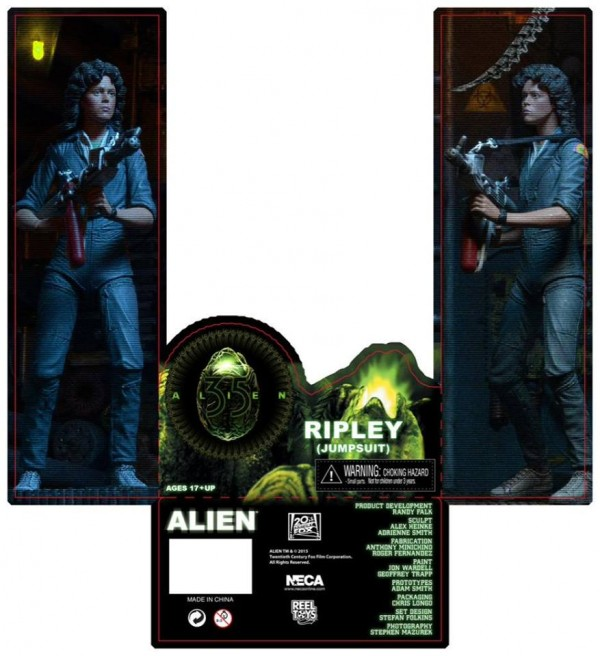 alien ripley neca packaging