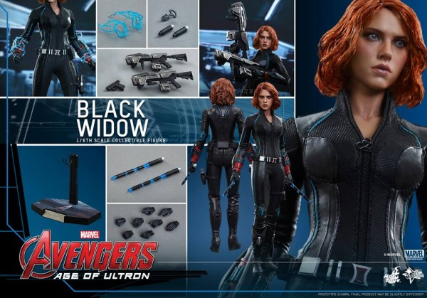 avengers age of ultron black widow hot toys