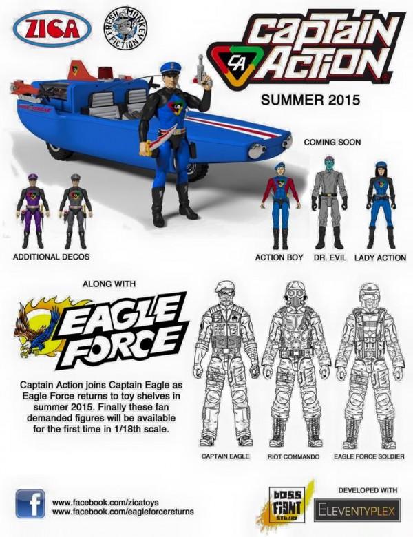 captain action  eagle force