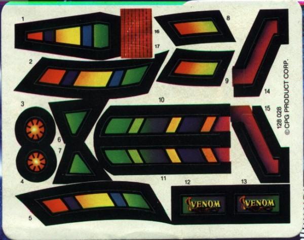 MASK Piranha Stickers