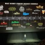 Planning des films Disney pour 2015 -2017