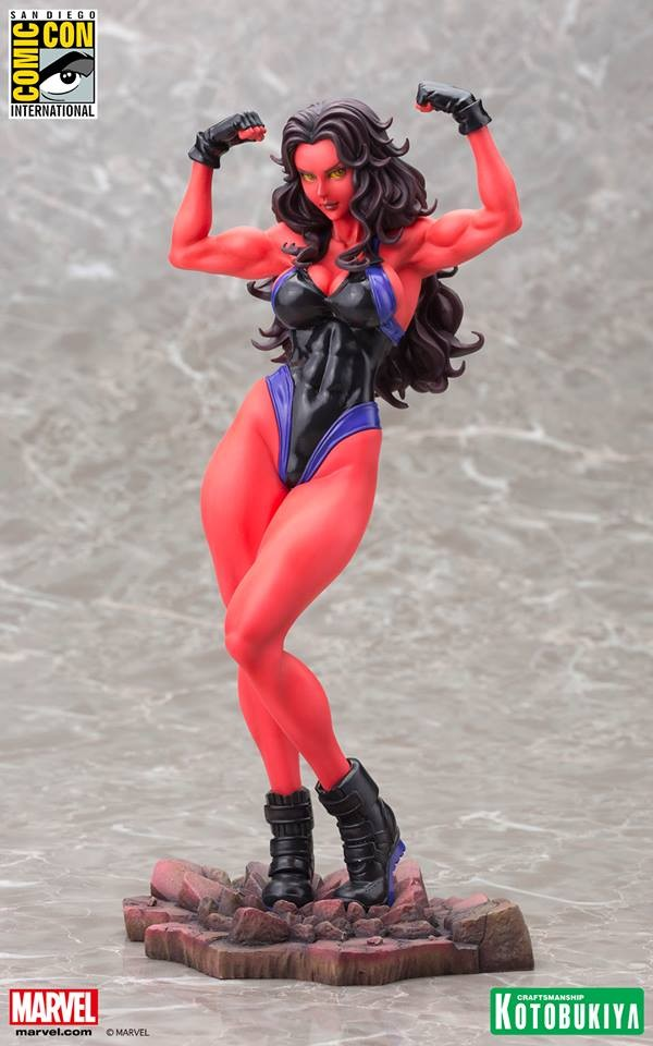 Red She-Hulk Bishoujo Statue 2015 SDCC Exclusive
