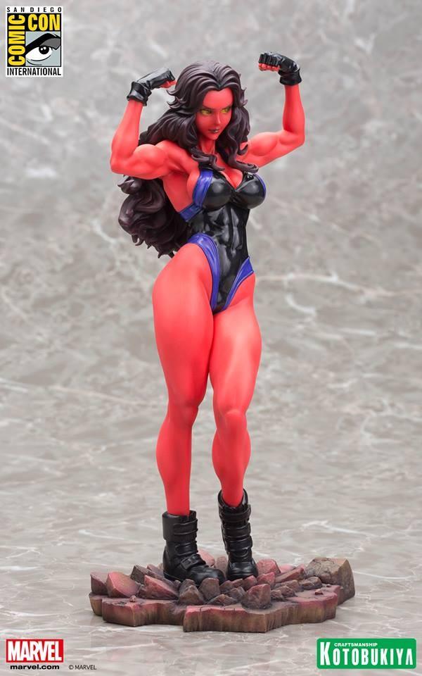 Red She-Hulk Bishoujo Statue 2015 SDCC Exclusivea