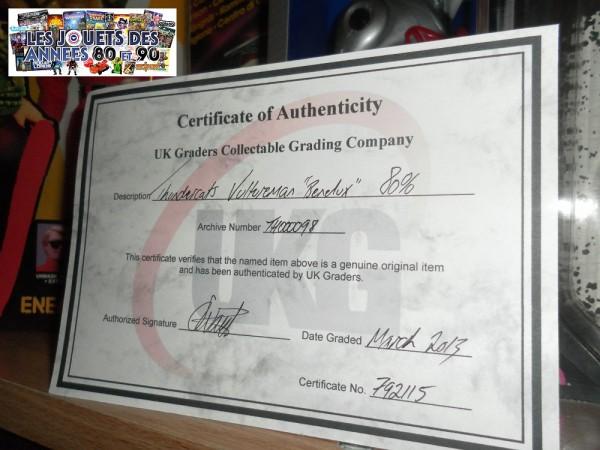 Certificat UKG Vultureman Benelux