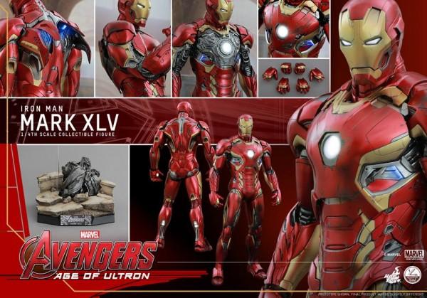 Avengers: AOU Iron Man Mark XLV 1/4th par Hot Toys