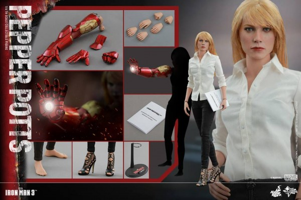 Iron Man 3 1/6th scale Pepper Potts Collectible Figure.