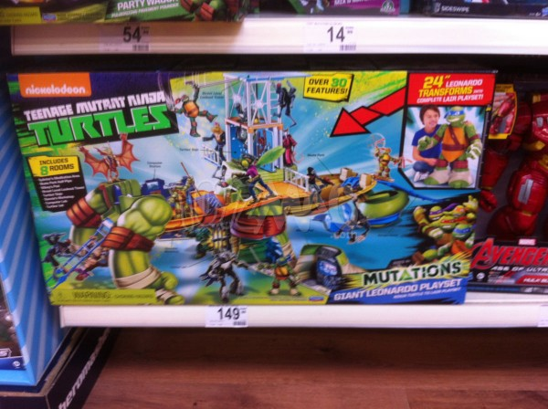Tortues ninja Mutation Giant Leonardo Playset