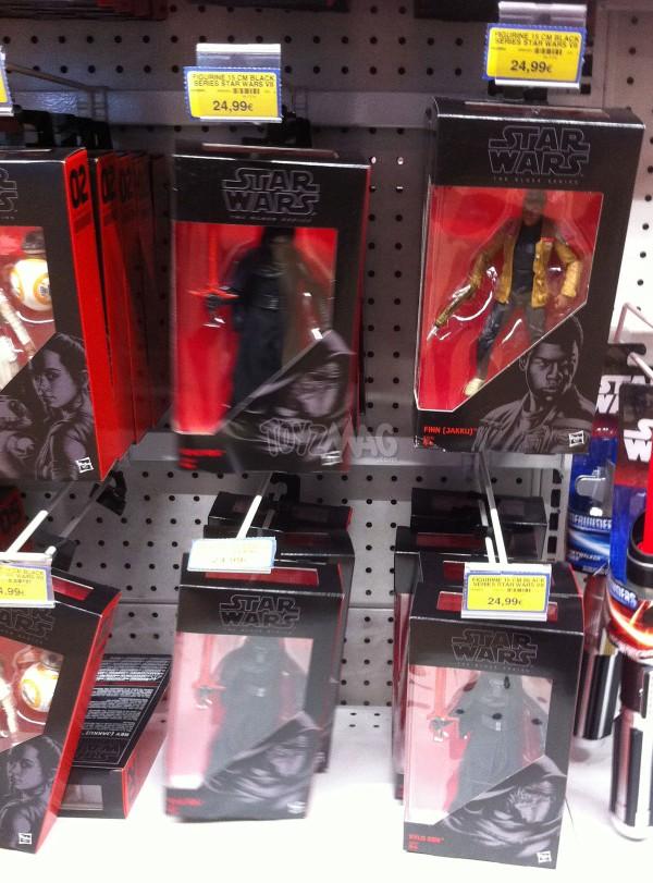 jouets black sereie sKylo Ren et Stormtrooper TFA