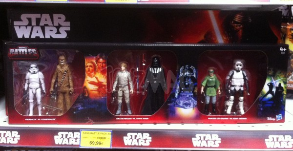 STAR WARS EXCLU TOYS R US Pack Trilogie Star Wars : Stormtrooper vs Chewbacca; Luke Skywalker vs Darth Vader; Princess Leia vs Scout Trooper