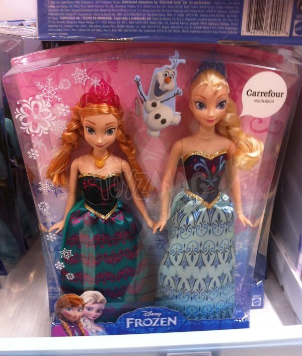 REINE DES NEIGES Lot de 2 poupées Anna et Elsa au prix de 29,90€ voir ici
