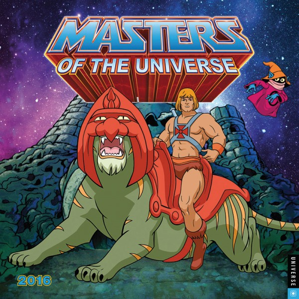calendrier MOTU He-man musclor maitres de l'unviers Master of the univers 2016