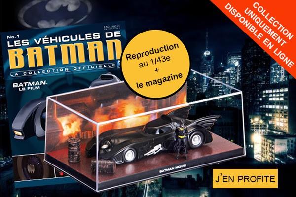 La Collection Officielle Les Véhicules de Batman débarque en France