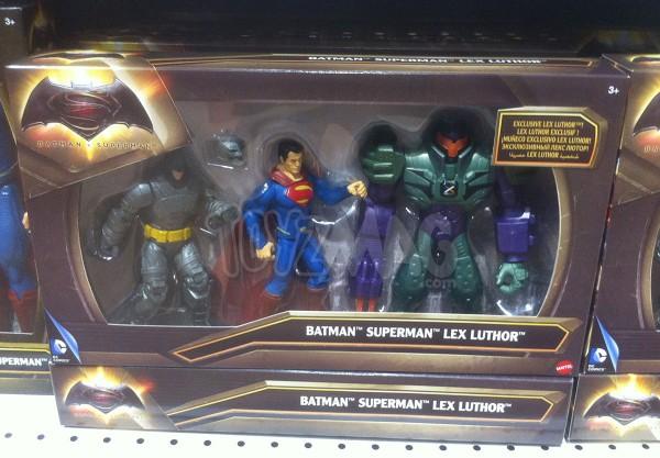 pack exclu figurines spuerman, batman et lex lutho jouet et figurine Batman v Superman : L'Aube de la Justice