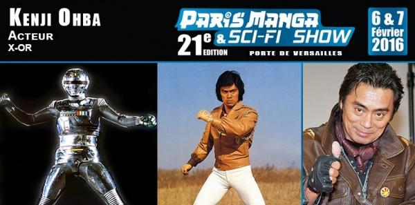 KENJI OHBA (X-OR) et SONNY CHIBA invités de Paris Manga 21 les 6 et 7 février