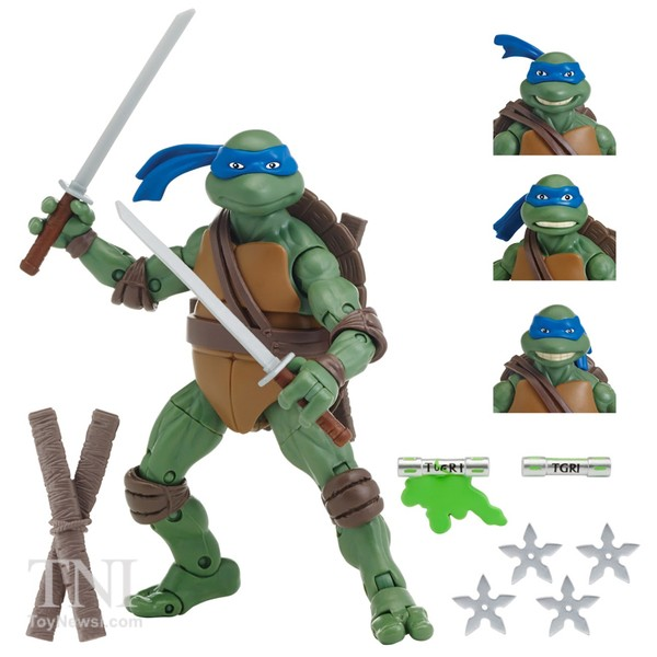 LEONARDO  Figurines Tortues Nijna  Teenage Mutant Ninja Turtles Classics Secret Of The Ooze Walmart Exclu