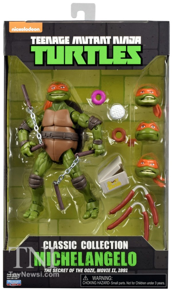 Michelangelo Figurines Tortues Nijna  Teenage Mutant Ninja Turtles Classics Secret Of The Ooze Walmart Exclu