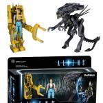 ReAction: Aliens 3-Pack Ripley, la Reine Aliens et le Power Loader