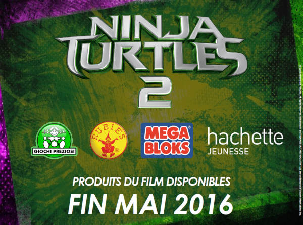 TMNT2 jouet figurines en france fin mars / début avril 2016