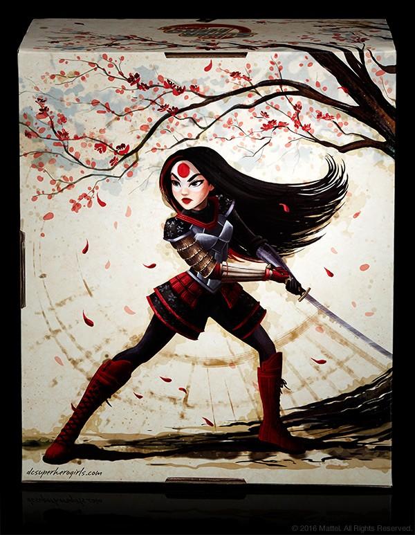 sdcc201 DC SUPER HERO GIRLS KATANA exclu SDCC 2016 MATTEL