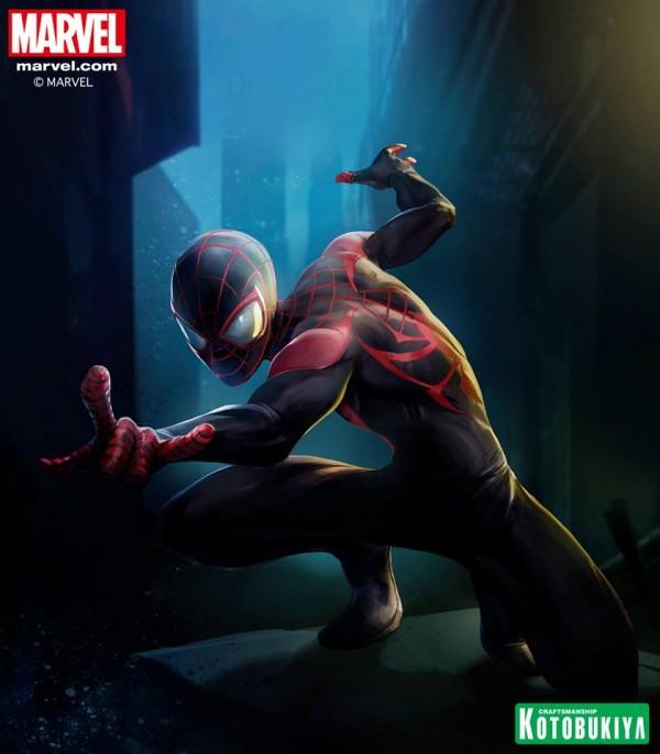 Stefano Caselli  artwork exclusif Ultimate Spider-Man ARTFX+ collection Kotobukiya