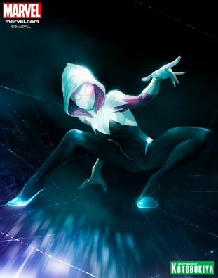 Spider-Gwen artwork created by Stefano Caselli exclusively for our Marvel ARTFX+ collection!