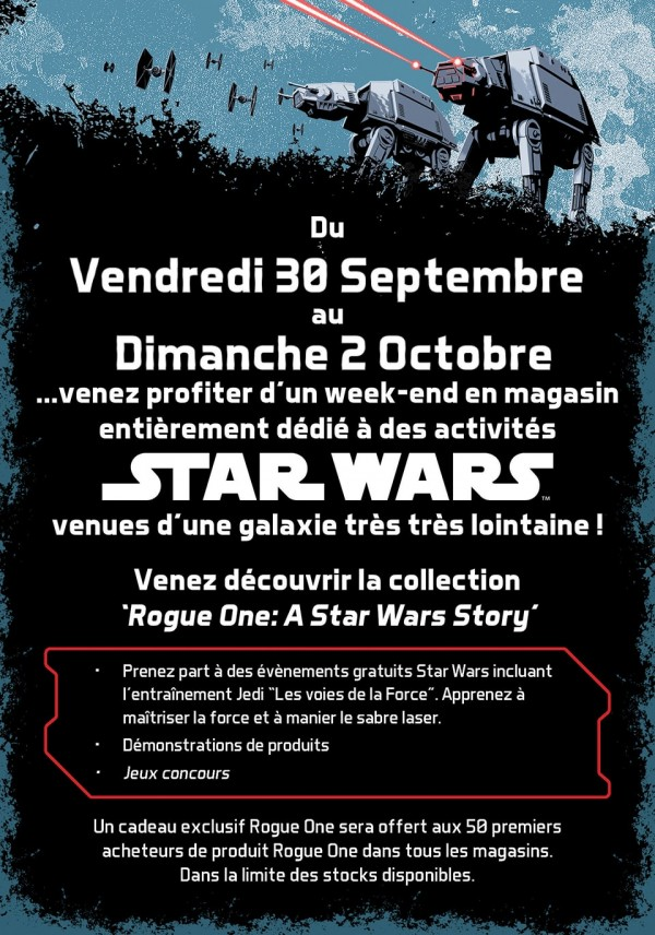 rogue one star wars disney store