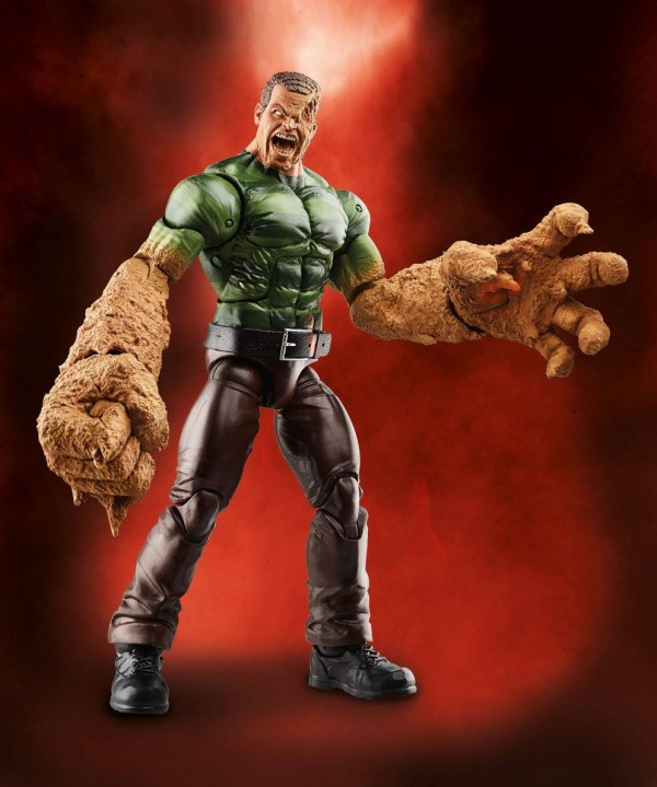 Hasbro Marvel Legends Spiderman series BAF Sandman
