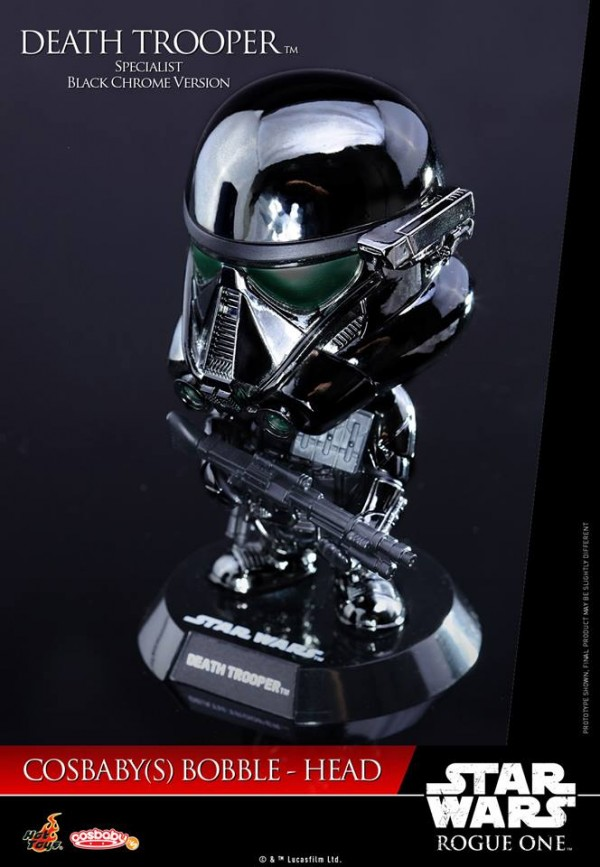 Rogue One Death Trooper Specialist Cosbaby (Black Chrome Version)