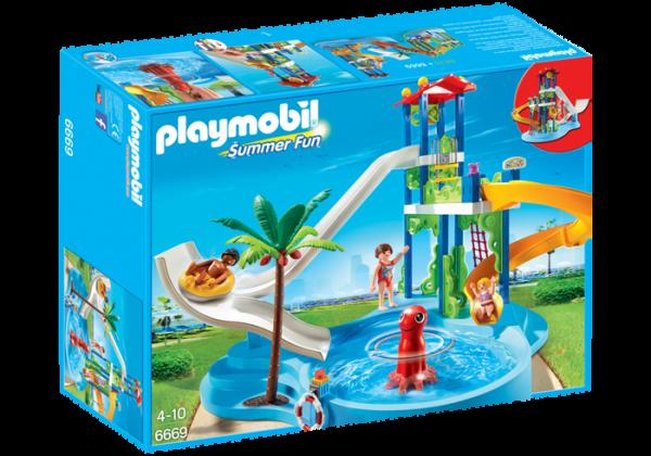 Playmobil Parc aquatique avec toboggans géants