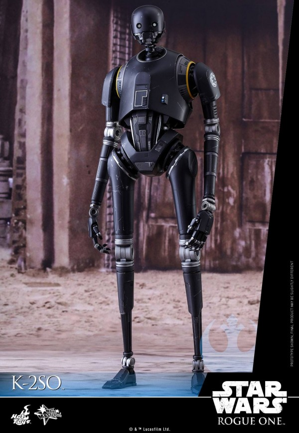 Rogue One: A Star Wars Story 1/6th scale K-2SO Figure.Rogue One: A Star Wars Story 1/6th scale K-2SO Figure.
